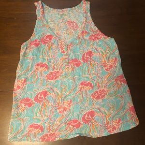 Lilly Pulitzer Jellies Be Jammin Tank Top Size S